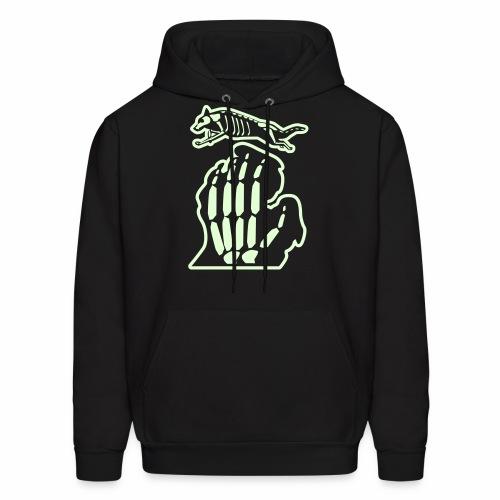 Bark Michigan glow-in-the-dark Halloween Men's hoodie - Men's Hoodie
