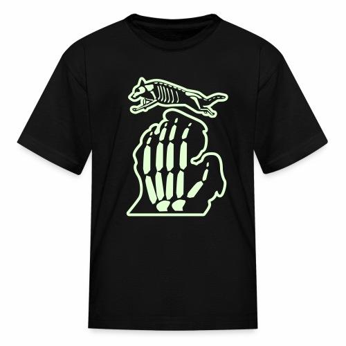 Bark Michigan glow-in-the-dark Halloween Kid's Shirt - Kids' T-Shirt