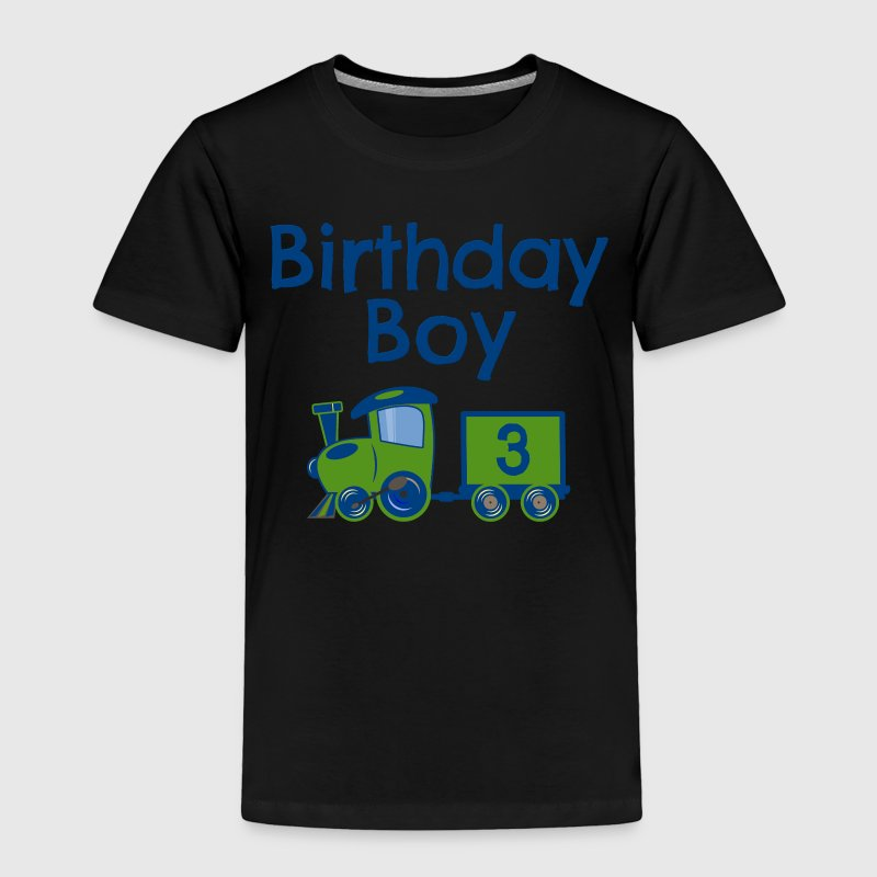 Birthday Boy Train 3 Baby & Toddler Shirts - Toddler Premium T-Shirt