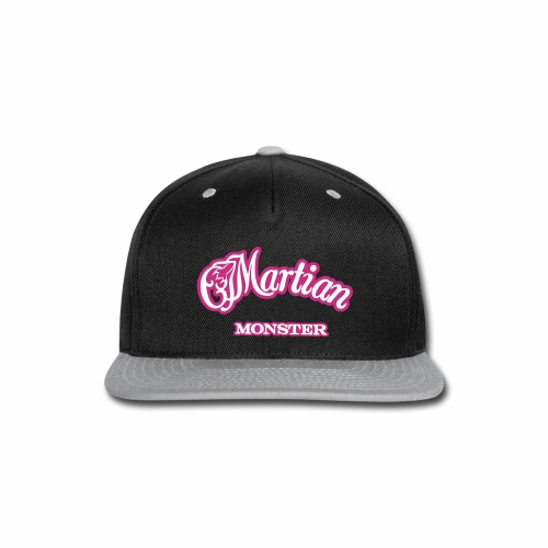 Martian Monster Snap-back Baseball Cap (white/magenta) - Snap-back Baseball Cap