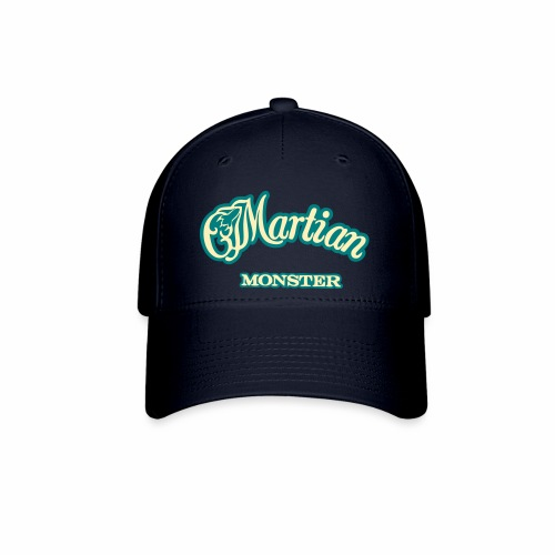 Martian Monster Baseball Cap (cream/teal) - Baseball Cap
