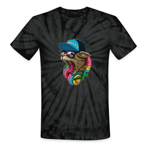 Wazcat (Tie Dye) - Unisex Tie Dye T-Shirt