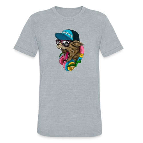 Wazcat (Speckle) - Unisex Tri-Blend T-Shirt