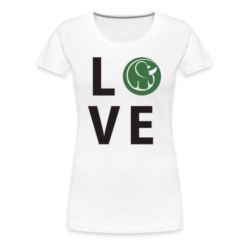 Women's TShirt Love Elephants - Women's Premium T-Shirt