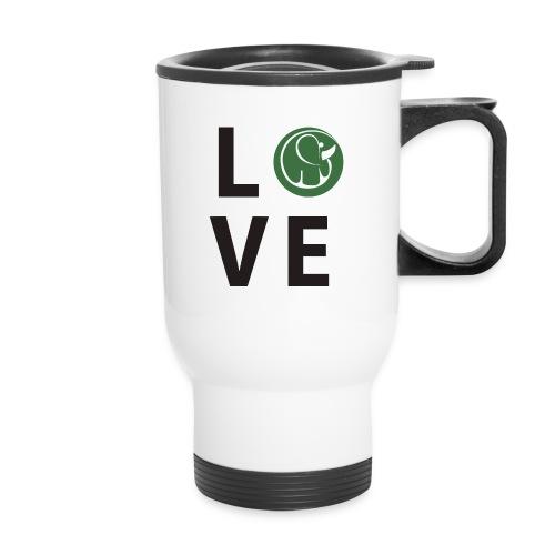Travel Mug Love Elephants - Travel Mug