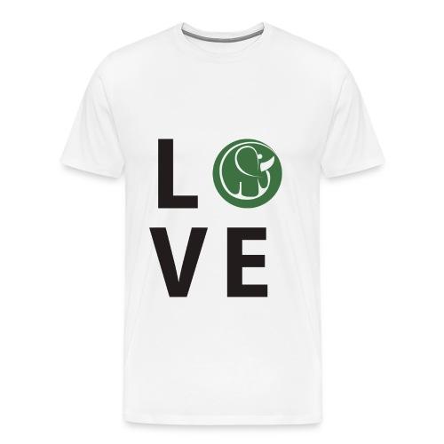 Men's Love Elephant Shirt - Men's Premium T-Shirt