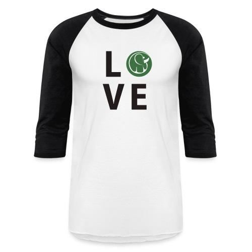 Men's Baseball Love Elephants Shirt - Baseball T-Shirt