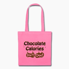 Chocolate Calories Don't Count - Diet Humor Bags & backpacks