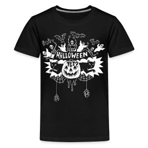 Is it Halloween yet? - Kid's, White on Dark - Kids' Premium T-Shirt