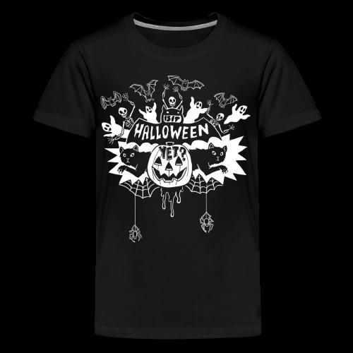 Is it Halloween yet? - Kid's, White on Dark - Kids' Premium T-Shirt