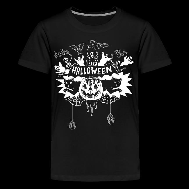 Is it Halloween yet? - Kid's, White on Dark