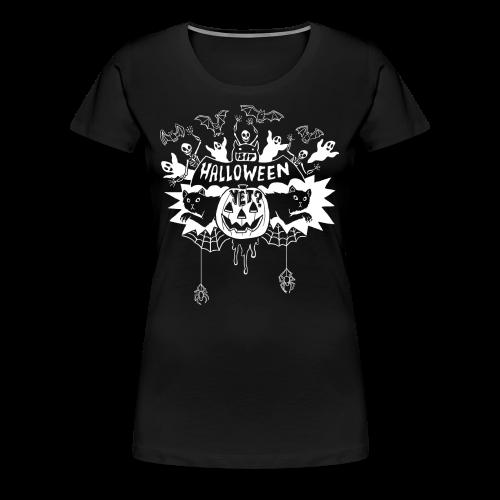 Is it Halloween yet? - Woman's, White on Dark - Women's Premium T-Shirt
