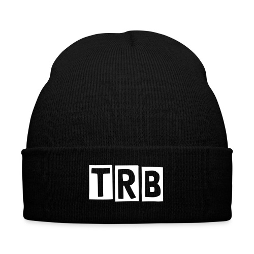 TRB Black Knit Cap with Cuff Print - Knit Cap with Cuff Print
