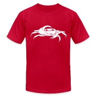 T-Shirts ~ Men's T-Shirt by American Apparel ~ Mellowvision Red Fiddler T