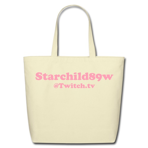 Twitch.tv Eco-Friendly Cotton Tote [Pink Text] - Eco-Friendly Cotton Tote