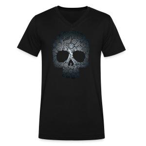 Floral Skull - Men's V-Neck T-Shirt by Canvas