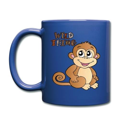 Wild Thing Coffee Mug with cute monkey cartoon - Full Color Mug