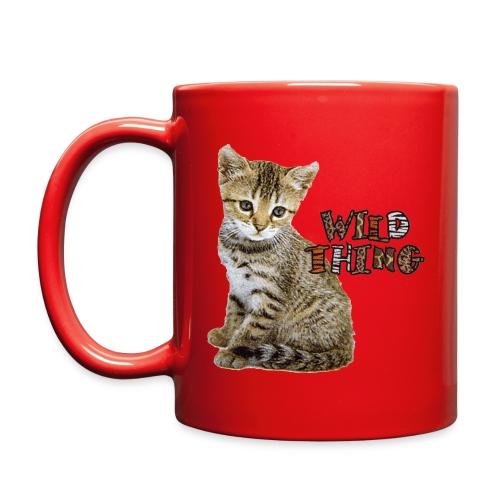 Wild Thing with cute kitten mug - Full Color Mug
