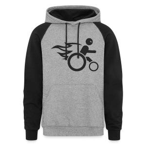 wheel chair devil - Colorblock Hoodie