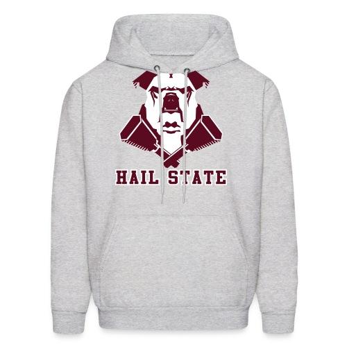 Hail State Bulldawg (Heather Grey) - Men's Hoodie