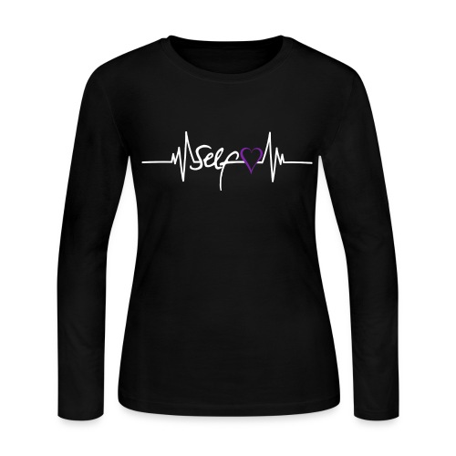 Self Love is Life: Domestic Violence Awareness - Women's Long Sleeve Jersey T-Shirt