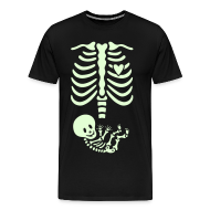 T-Shirts ~ Men's Premium T-Shirt ~ Glow-in-the-dark Skeleton Maternity (Mens/Unisex Shirt)