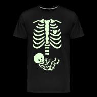T-Shirts ~ Men's Premium T-Shirt ~ Glow-in-the-dark Skeleton Maternity (Mens/Unisex Shirt)