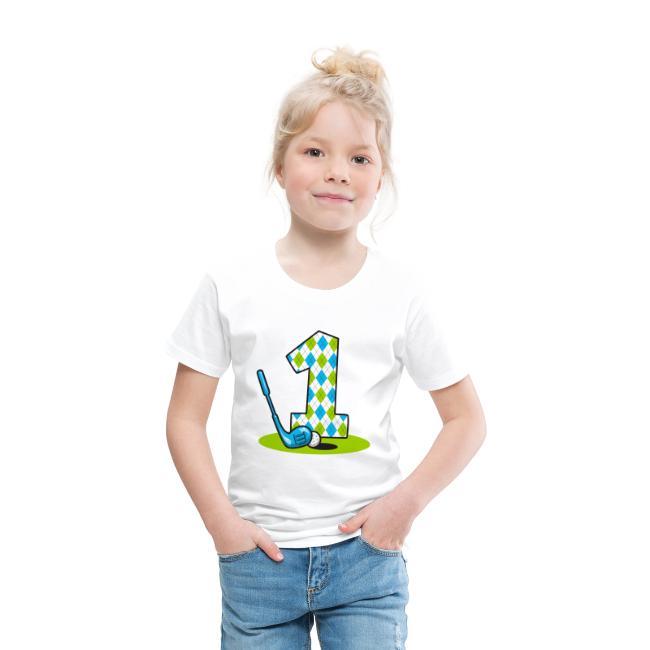 Argyle Golf 1st Birthday T Shirt