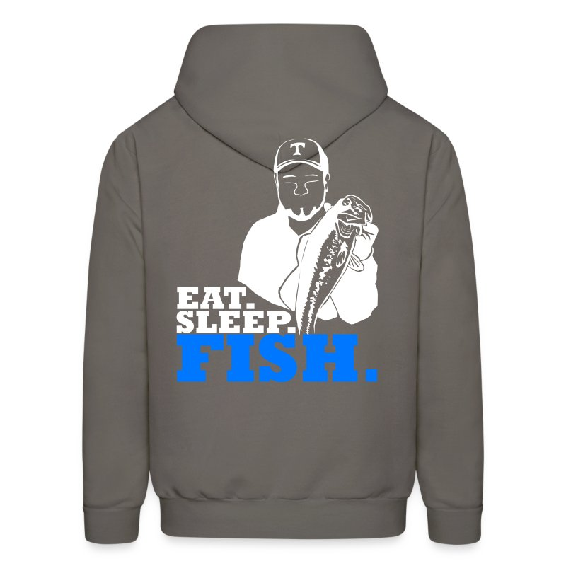 Eat sleep bass fish hoodie hoodie spreadshirt for Bass fishing hoodies