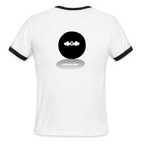 Vampire Runner Circle Logo - Men's Ringer T-Shirt