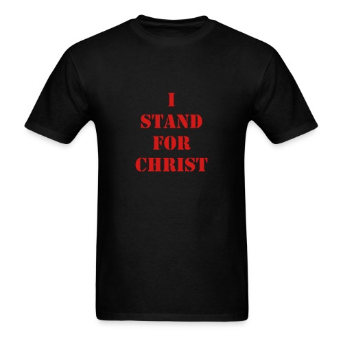 Mens I stand for Christ tee - Men's T-Shirt