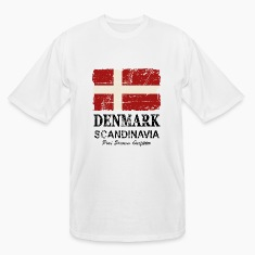 Denmark Flag - Vintage Look  T-Shirts