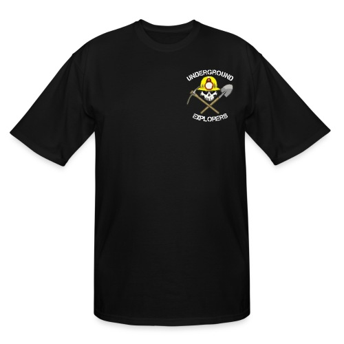 Underground Explorers Tall Black Logo Tee - Men's Tall T-Shirt
