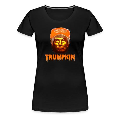 Make Halloween Great Again Trumpkin Shirt - Women's Premium T-Shirt