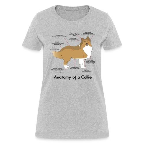 Anatomy of a Collie - Womens T-shirt - Women's T-Shirt