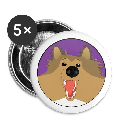 Holly the Collie Basic - Button - Buttons small 1'' (5-pack)