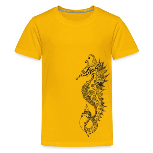 South Seas Tribal Seahorse Kids Premium T-Shirt - Kids' Premium T-Shirt