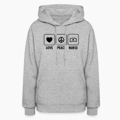 Love - Peace - Nurse Hoodies