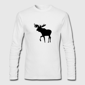 Moose Long Sleeve Shirts - Men's Long Sleeve T-Shirt by Next Level