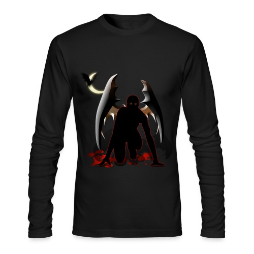 Crouched Vampire Runner - Men's Long Sleeve T-Shirt by Next Level