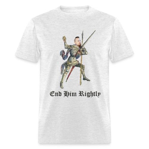 End Him Rightly t-shirt light oxford - Men's T-Shirt