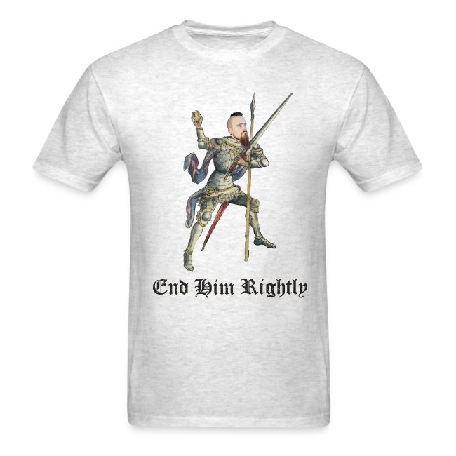 """""""End Him Rightly"""" t-shirt light oxford"""