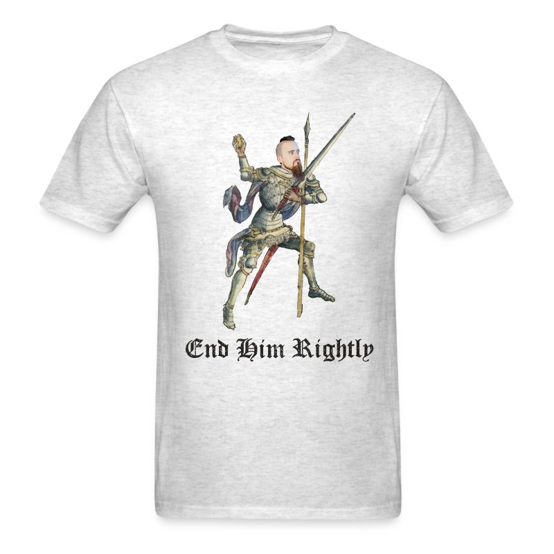 End Him Rightly t-shirt light oxford - Men's T-Shirt