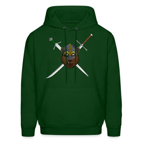 Skallagrim logo - green hoodie - Men's Hoodie