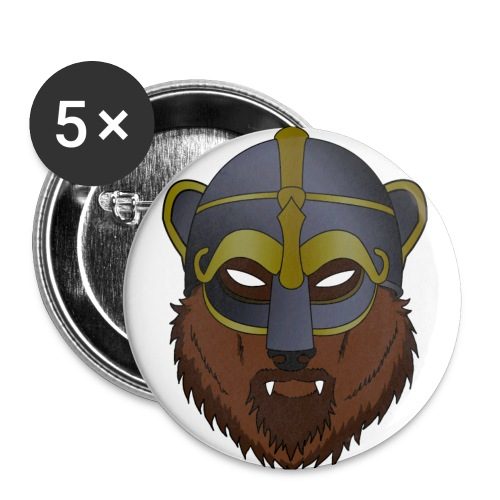Viking Bear - Small Button - Buttons small 1'' (5-pack)