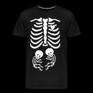 T-Shirts ~ Men's Premium T-Shirt ~ Twins! Skeleton Maternity Costume
