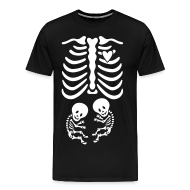 T-Shirts ~ Men's Premium T-Shirt ~ Twins! Skeleton Maternity Costume