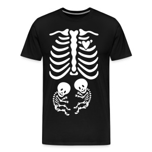 Twins! Skeleton Maternity Costume - Men's Premium T-Shirt