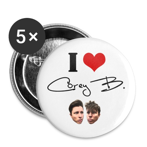I Love Corey B Buttons - Large Buttons