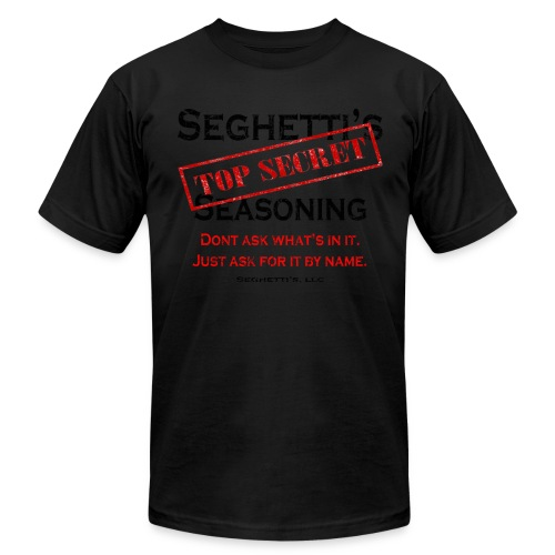 Seghetti's Top Secret Seasoning - Men's  Jersey T-Shirt